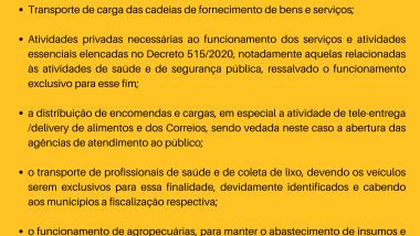 Medidas adotadas pela Portaria GAB/SES 180/2020 de 18/03/2020
